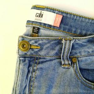CAbi Light Wash High Straight 12 Jeans